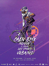affiche/visuel « BMX Indoor de Caen 2020 & Salon des Sports Urbains »