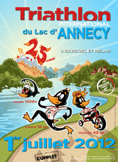 affiche/visuel &#171; 25<sup>e</sup> Triathlon International du Lac d'Annecy &#187;