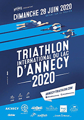 affiche/visuel « 33<sup>e</sup> Triathlon International du Lac d'Annecy »