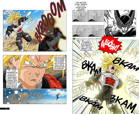 Trunks vs Cell, la revanche - pages CD-CD