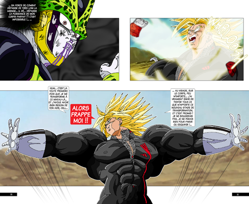Trunks vs Cell, la revanche - pages IA-IB