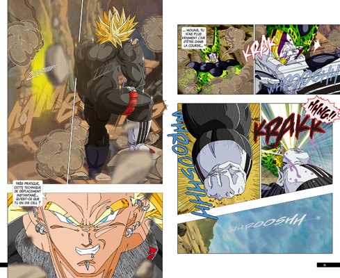 Trunks vs Cell, la revanche - pages IB-IC