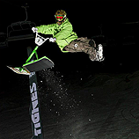 Photo de l'épreuve de freestyle lors de la Coupe de France 2013 de Snowscoot à Tignes - © Farangprod