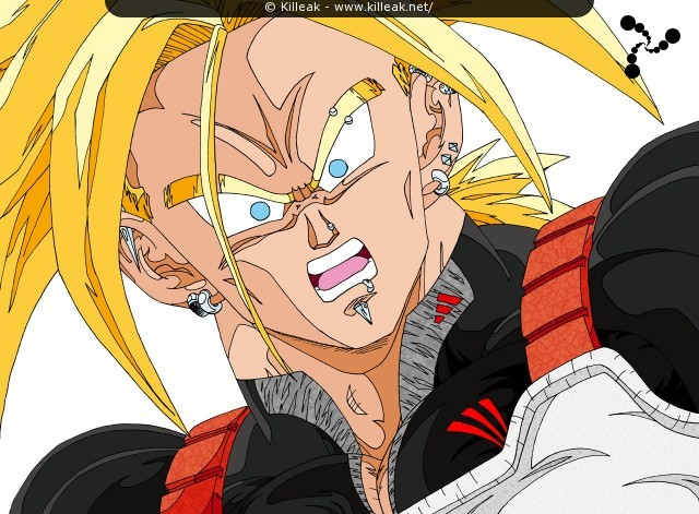 Trunks Super Saiyan. – « Super Trunks » – Trunks Super Saiyan. – mots associés : dbz, dragon ball z, super saiyan daï ni dankaï, trunks