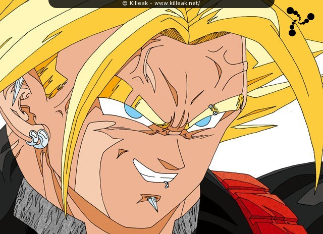 Trunks fait preuve d'un excès de confiance en la puissance et la force que lui procure sa transformation en Super Saiyan Daï San Dankaï, alors qu'il va débuter son combat contre Perfect Cell. – Trunks (trop) sûr de lui face à Cell. – « Trunks (trop) sûr de lui » – Trunks Super Saiyan Daï San Dankaï, ou Ultra SSJ... – mots associés : dbz, dragon ball z, super saiyan daï san dankaï, trunks, ussj