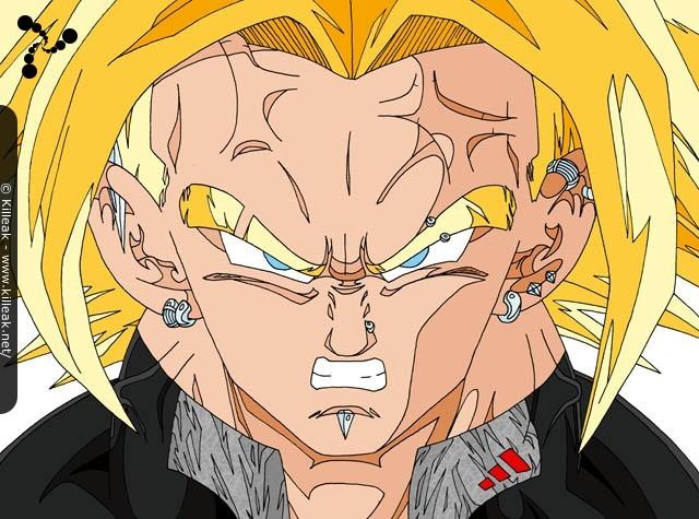 Fan Art Dragon Ball Z Trunks Vs Cell Autres Contenus Www